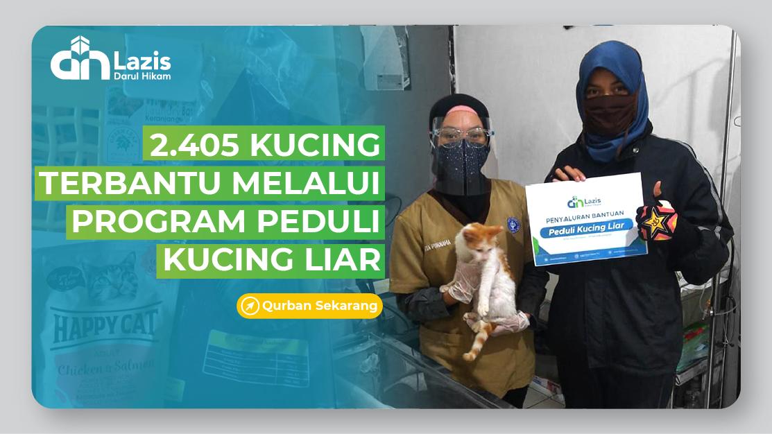 2.405 KUCING TERBANTU MELALUI PROGRAM PEDULI KUCING LIAR
