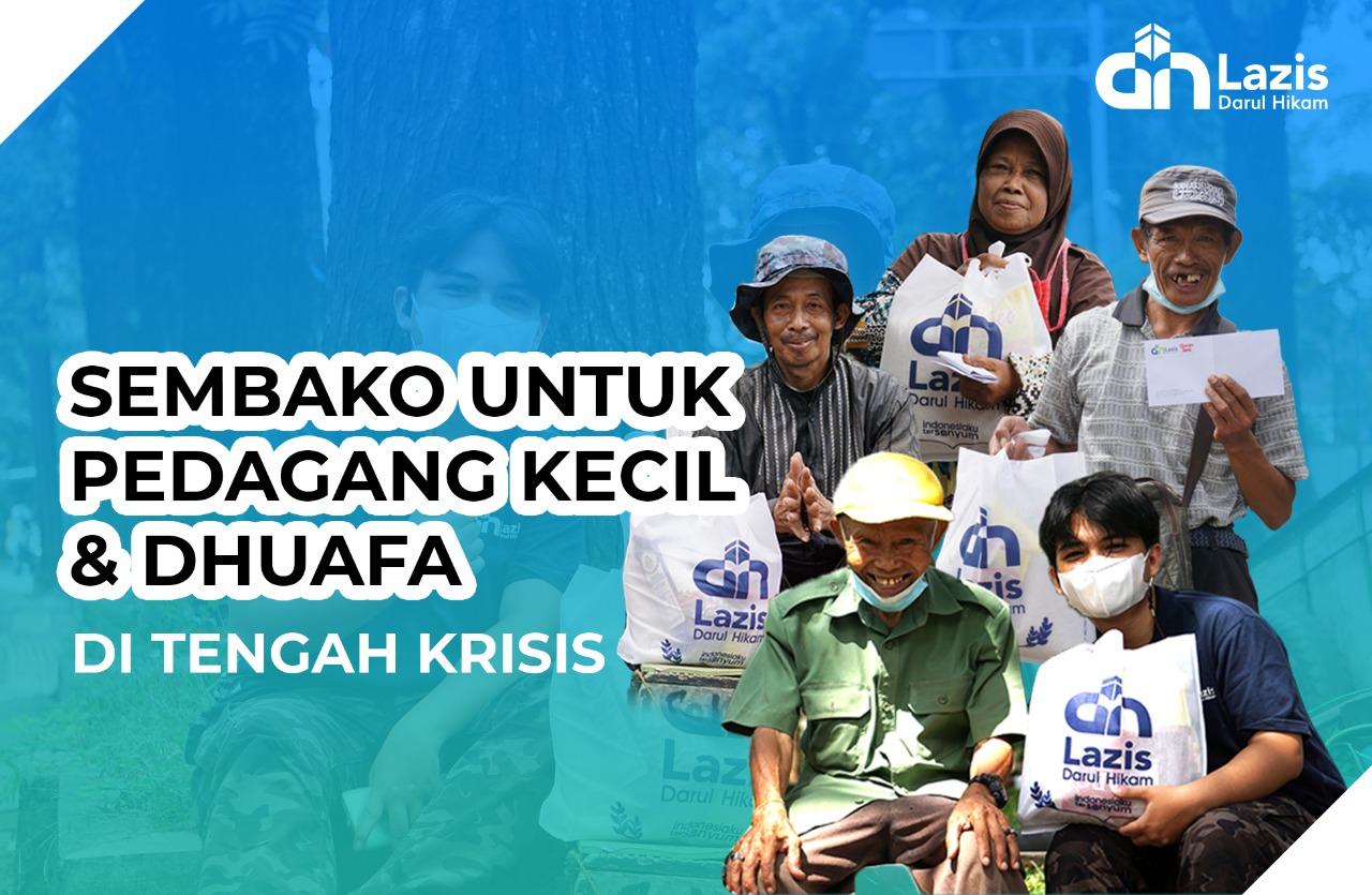 Sembako Gratis untuk Pedagang Kecil dan Dhuafa di Tengah Krisis